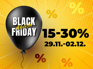 Black Friday akcija 15-30%