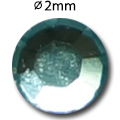Cirkoni za nokte Flat Back Aquamarine IAG01-07