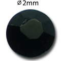 Cirkoni za nokte Flat Back Black IAG 01-15