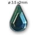 Cirkoni za nokte Drop Blue IB06-18