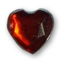 Cirkoni za nokte Heart Red IB08-05