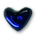 Cirkoni za nokte Heart Bright Blue IB08-11