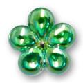 Cirkoni za nokte Flower Green IB09-17