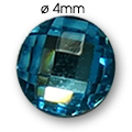 Cirkoni za nokte Round L. Blue IB45-09