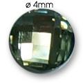 Cirkoni za nokte Round Clear Black IB45-12