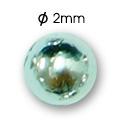 Cirkoni za nokte Semi Ball Silver IB50-08