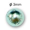 Cirkoni za nokte Semi Ball Silver IB50-09