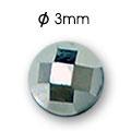 Cirkoni za nokte Semi Ball Silver IB50-16