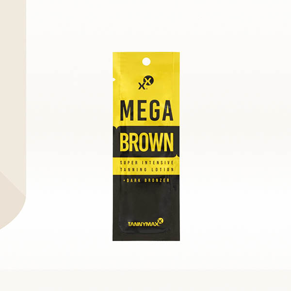 Mega Brown Super Intensive Tanning Lotion Bronzer Sachet 15ml