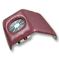 Hand holder with fan 10-29 E burgundy