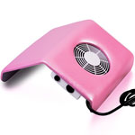 Hand holder with fan 10-29 H pink