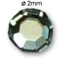Cirkoni za nokte Flat Back SS5 Crystal AB IAS01-20