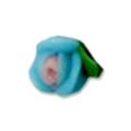 Ukras za nokte 3D Cvet 3 latice s.plave IJ01-10
