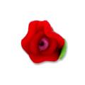Ukras za nokte 3d ruža crvena 6mm IR16-08