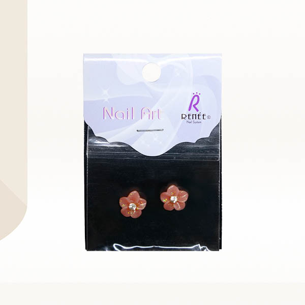 Nail Art Cameo Daffodil with Zircon Pink IR09-17